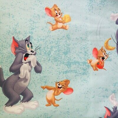 Disney Licensed Tom & Jerry Cotton Fabric Childrens Curtains Crafts Upholstery