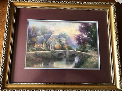 """Lamplight Manor Full-size Lithograph By Thomas Kinkade; Frame 16.25""""x13.25"""""""