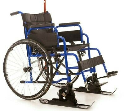 Wheelchairs or Walking Frame Skis, NEW Gliders, Snow Sand Stones FREE Buggy CLIP