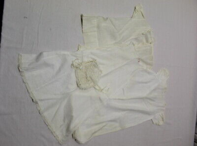 Vintage Baptism Christening Outfit Gown Antique Infant Cotton