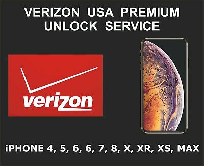 Verizon USA Premium iPhone Unlock Service, fits iPhone 4, 5, 6 7, 8, X XR XS MAX
