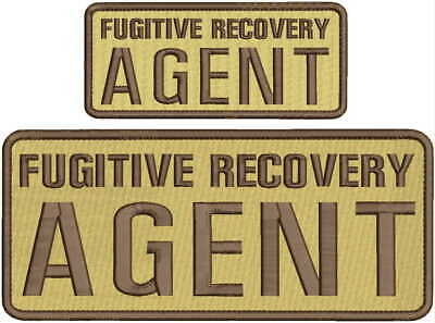 usg7 fugitive agent embroidery patch 4x10 and 2x5hook on back