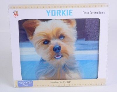 KITCHEN DECOR YORKSHIRE Terrier Yorkie Dog Wine Bottle