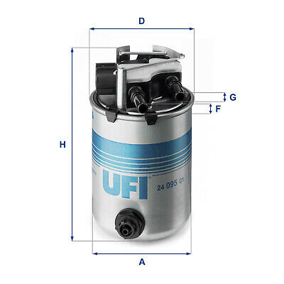 2409501 UFI Fuel Filter Diesel Replaces 16400-4EA1B,164004EA1B,MA058,ADN12352