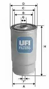 2446000 UFI Fuel Filter Diesel Replaces 31922-26900,31922-3A800,