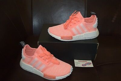 100% authentic 2290a 2f75f New Women s Adidas NMD R1 W Boost Sz 9-10 Sun Glow White Pink Orange