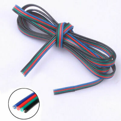 4Pin Extension Wire Cable Cord F 3528 5050 RGB LED Strip Light Lamp 22AWG 1-100M