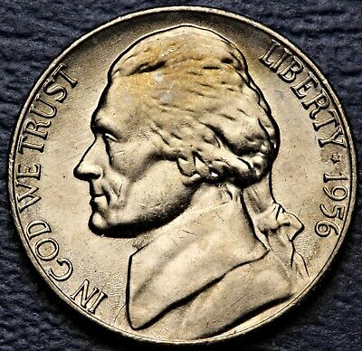 1956-P UNITED STATES JEFFERSON NICKEL...#7499