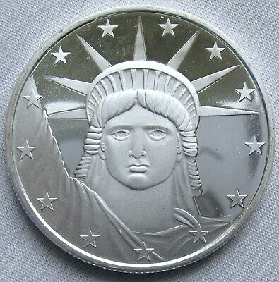 Lot of 2 - 1 Troy oz SilverTowne Lady Liberty Silver Round .999