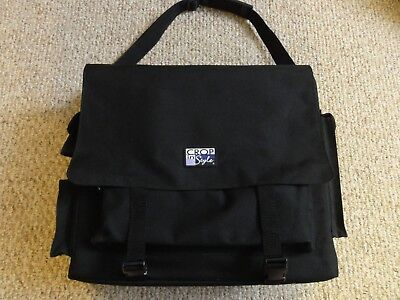 Large Black Travel Craft Bag With Multiple Pockets And A Detachable Carry Strap