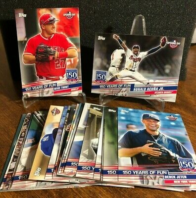 2019 Topps Opening Day 150 YEARS OF FUN Insert 25 card SET Mike Trout & Acuna Jr