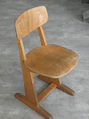 Vintage Chair wood Oak casala Farmhouse Stool Children Bench Seat Kid armchai