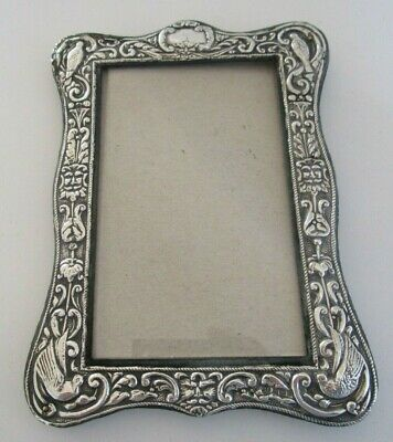 Embossed Silver Picture Frame, Hallmarked Birmingham 1905