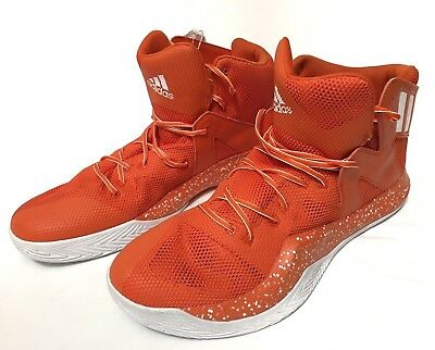 43bf6bce8 New Adidas Crazy Bounce Mens Basketball Shoes Orange Speckled Size 19 NWOB