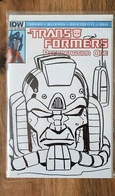 Transformers Regeneration One #81 RI-B Sketch Cover
