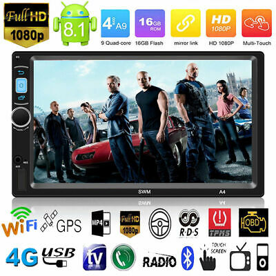 7'' Android8.1 Car Stereo MP5 Player GPS Navi FM Radio WIFI Bluetooth AUX 2DIN