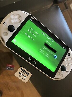 WHITE PS VITA PlayStation Vita OLED 3 65 Henkaku Modded Enso
