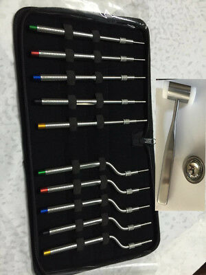 Dental Implant Osteotomes Concave Sinus Lift Kit Straight Off Set Instruments 13