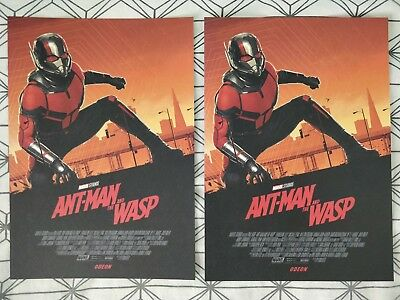 2x Marvel Ant-Man And The Wasp ODEON A4 Sized Poster 1 (Antman Ant Man)