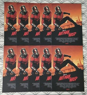 10x Marvel Ant-Man And The Wasp ODEON A4 Sized Poster 1 (Antman Ant Man)