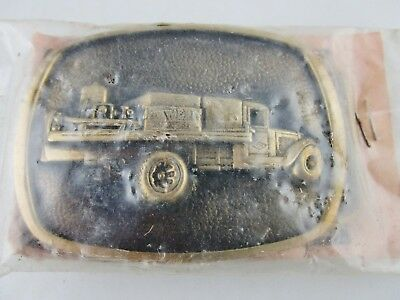 Vintage Dowell Service Truck Belt Buckle Solid Brass U.S.A. New Old Stock NOS