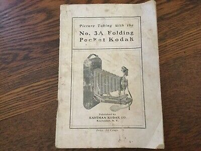 Picture Taking With KODAK 3A Folding Pocket Camera VINTAGE Booklet- June 1912