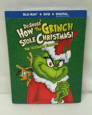 Dr. Seuss HOW THE GRINCH STOLE CHRISTMAS Ultimate Edition Blu-Ray+DVD+Digital
