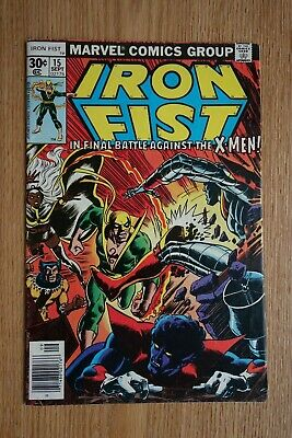IRON FIST #15 VG+ 1977 Marvel Comics 1st appearance of