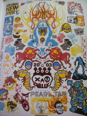Pearl Jam New Jersey 2003 US Tour Poster 29x22cm from Book to Frame?