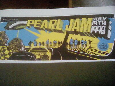 Pearl Jam Vancouver Canada 1998 Yield Tour Poster Small 20x9cm to Frame?