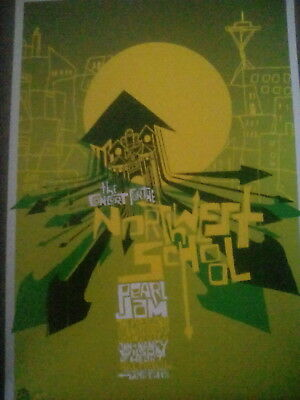 Pearl Jam Northwest School 2005 Tour Poster From Art Book 29x20cm to Frame?