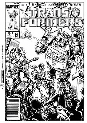 £25 OFF! TRANSFORMERS G1 #14 COVER RE-CREATION by BASKERVILLE after  BUDIANSKY!