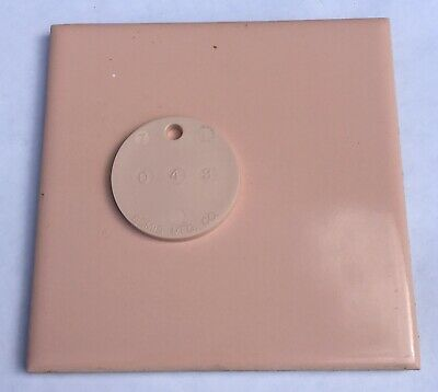 4x4 Vintage Tile in Peach/Coral -1 Sq Ft- Salvaged- 'USQTCO Romany'