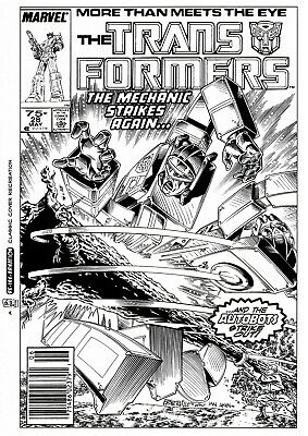 NOW £20 OFF! TRANSFORMERS G1 #28 COVER RE-CREATION by BASKERVILLE after  AKIN!