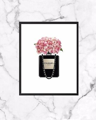 Perfume Bottle Fashion Poster Wall Art Print Postcard A6 Gift Chanel Inspired