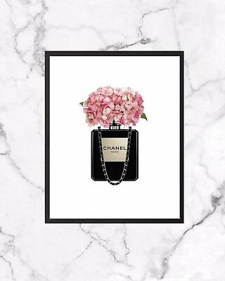 Perfume Bottle Poster Wall Art Print Home Decor A4 Gift Chanel Inspired