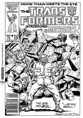 NOW £25 OFF! TRANSFORMERS G1 #26 COVER RE-CREATION by BASKERVILLE after  TRIMPE!