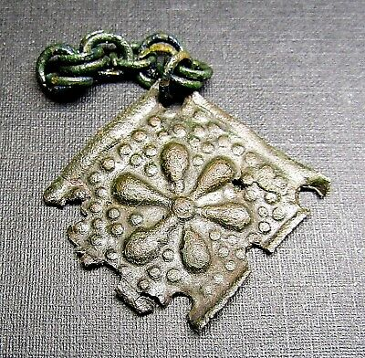 Ancient Bronze Viking Chain Amulet (A1.1).