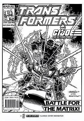 PRICE CUT! TRANSFORMERS MARVEL UK #254 COVER RE-CREATION by BASKERVILLE!