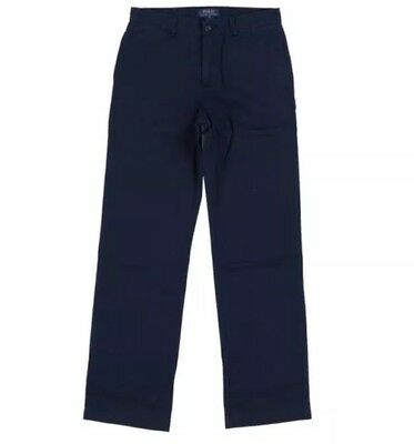 BNWT Boys Ralph Lauren Boys School Chino Trousers Size 10 Navy Blue