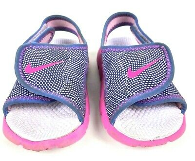028238049402 NIKE SUNRAY GIRL Purple   Pink Toddler Size 9 C Slip on Sandals Shoe ...
