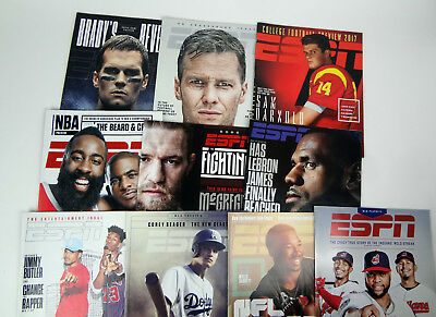 595c61ab8d53 (10) ESPN The Magazine Issue Lot Tom Brady Sam Darnold Lebron James Included