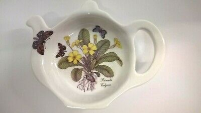 James Dean Pottery Fine Bone China Teapot Teabag Dish / Holder  Primula Vulgaris