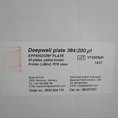 Qty 31 Eppendorf Deepwell Plates 384 Well 200µl # 951031321
