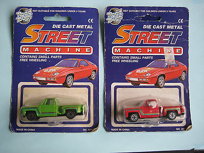 Lot Of 3 Yatming Road Tough Street Machine Cast Cars Mint On Blister 1970 S