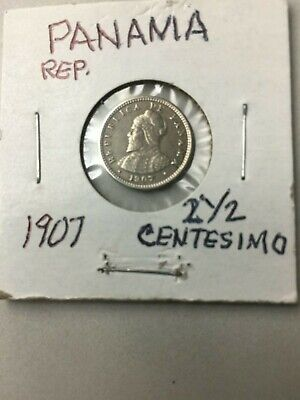 Mint Lustre Gvf Products Are Sold Without Limitations 1907 Panama Medio Centesimo Coin Km#6 Central America