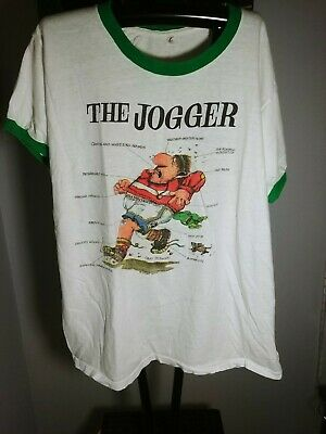 939899210 VINTAGE Cartoonist Gary Patterson Comics Graphic T Shirt The JOGGER Adult XL