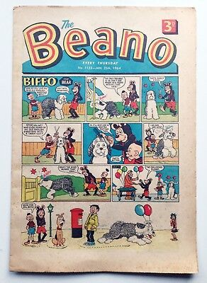 THE BEANO Comic No.1123 January 25th 1964 featuring Dennis the Menace