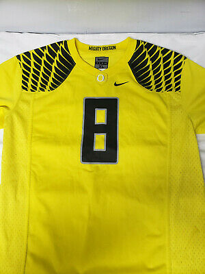 san francisco 0561a c8514 NIKE MIGHTY OREGON Ducks Football Jersey Yellow #8 Marcus Mariota Size X L