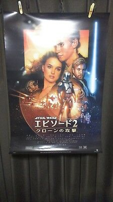 STAR WARS Episode2 ATTACK OF THE CLONES Original Movie Poster Japanese B2 size